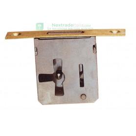 serratura per mobili mezza scatola acciaio lucido entrata 80 mm